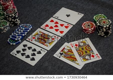 Chips royal Straße schwarz weiß Glücksspiel Stock foto © gemenacom