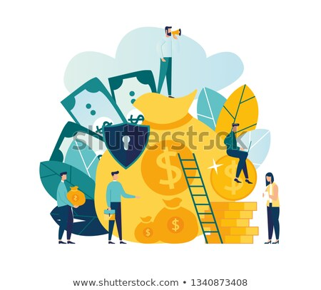 security shield protecting money business concept stock photo © loopall