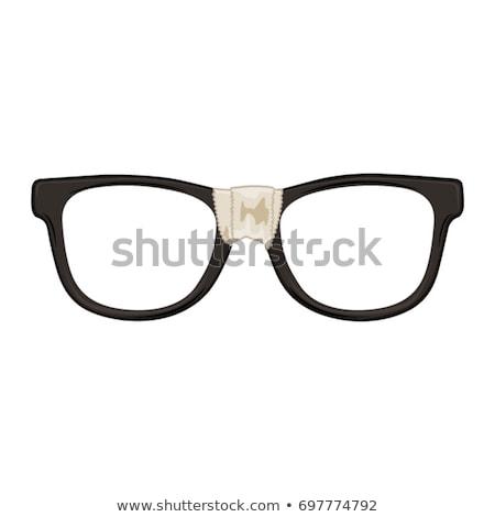 Stréber szemüveg klasszikus fekete stréber mindkettő Stock fotó © axstokes