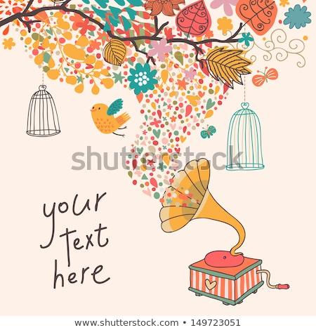 Soyut renkli dalga kuş kafesi örnek dizayn Stok fotoğraf © Elmiko
