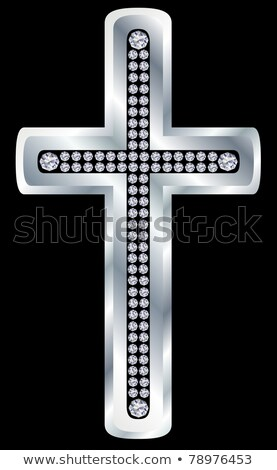 Cross diamond religion, vector illustration  Stock photo © carodi