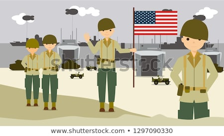 equipment of the American soldier landing in Normandy Stock photo © philipimage