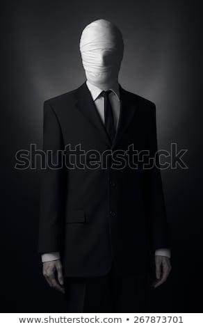 człowiek · pistolet · zły · patrząc · narciarskie - zdjęcia stock © stocksnapper