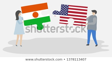 usa and niger flags in puzzle stock photo © istanbul2009