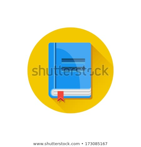 flat book with bookmark and long shadow stock photo © anna_leni
