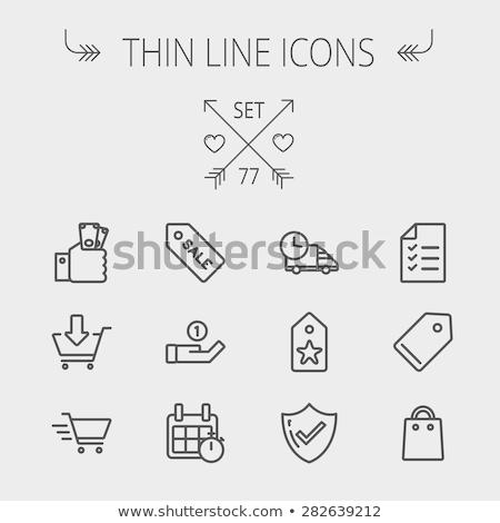 empty tag thin line icon stock photo © rastudio
