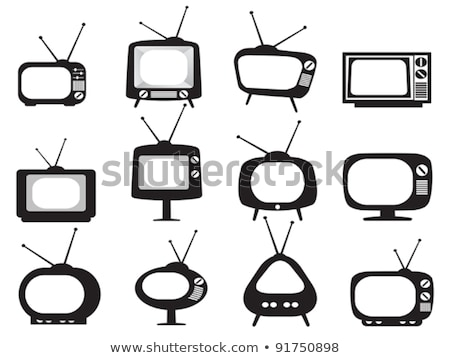 old style retro tv set icon stock photo © loopall