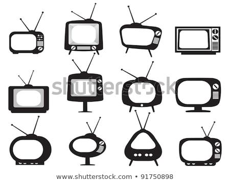 Old style retro tv set icon Stock photo © LoopAll