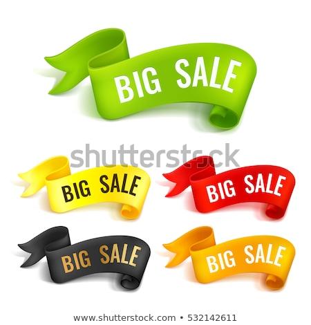 Seizoen bieden groene sticky notes vector icon Stockfoto © rizwanali3d