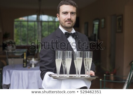 champagne · fles · glas · zwarte · abstract - stockfoto © dashapetrenko