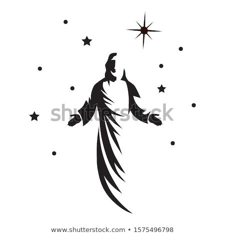 Gesù · Cristo · statua · luna · stelle · Pasqua - foto d'archivio © rastudio