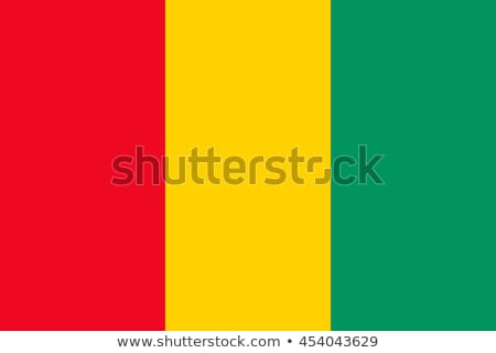 Banderą republika Gwinea mały mężczyzna 3d Zdjęcia stock © Istanbul2009
