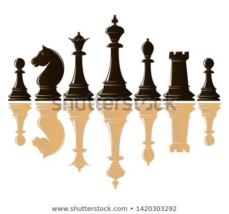 satranç · tahtası · oyun · eps · 10 · iş - stok fotoğraf © carodi