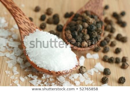Tengeri só fekete paprikák golyók nagy piros Stock fotó © mcherevan