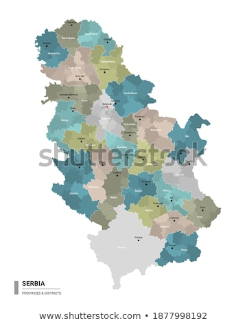Map of Serbia, Subdivision Toplica District Stock photo © Istanbul2009