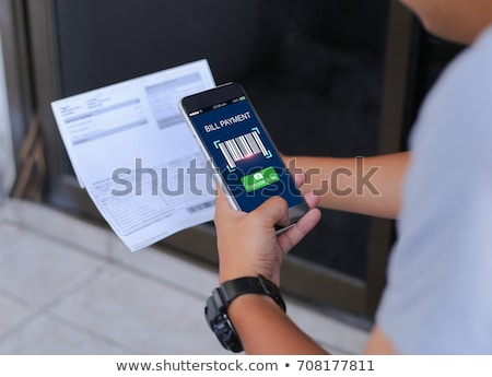 Schuld barcode woord business financieren digitale Stockfoto © fuzzbones0