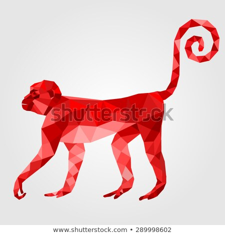 Polygonal Monkey Stock photo © unkreatives