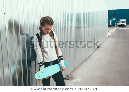 szomorú · lány · sportruha · nő · kezek · boldog - stock fotó © Paha_L