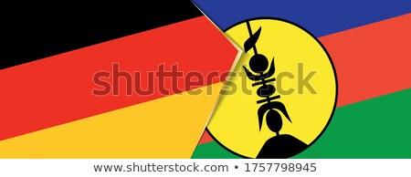 Duitsland nieuwe vlaggen puzzel geïsoleerd witte Stockfoto © Istanbul2009