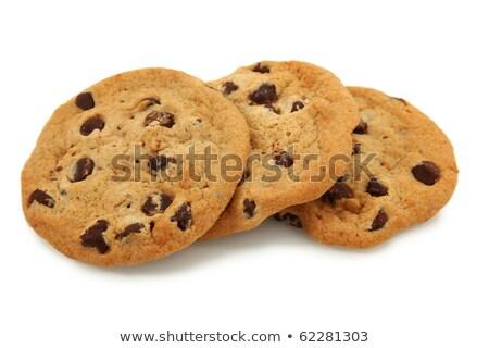Trio Of Chocolate Chip Cookies Stock photo © shutswis