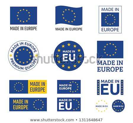 Евросоюз штампа текста иллюстрация дизайна искусства Сток-фото © kiddaikiddee