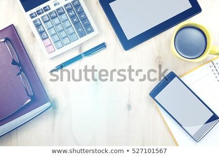 Calculadora caneta bloco de notas notas estoque foto Foto stock © punsayaporn