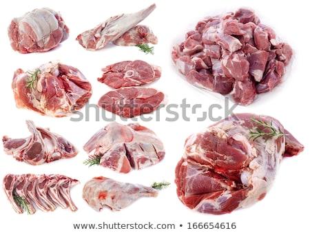 Kawałek baranka mięsa biały Zdjęcia stock © cynoclub