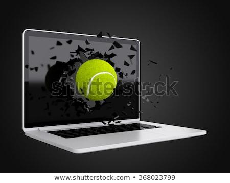 tenis · topu · dizüstü · bilgisayar · spor · teknoloji · klavye · tenis - stok fotoğraf © teerawit