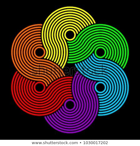 Rainbow noeud résumé blanche lumière rouge Photo stock © zven0