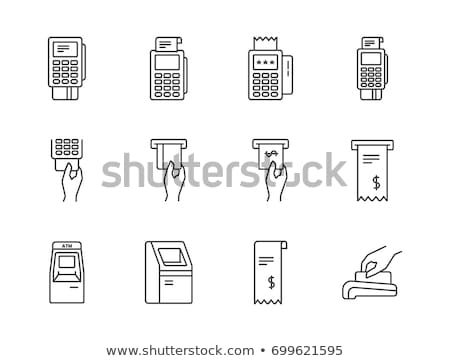 POS terminal with inserted credit card Stock photo © adrenalina