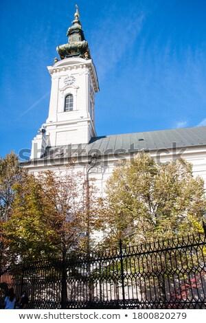 собора Церкви святой печально Сербия небе Сток-фото © vladacanon