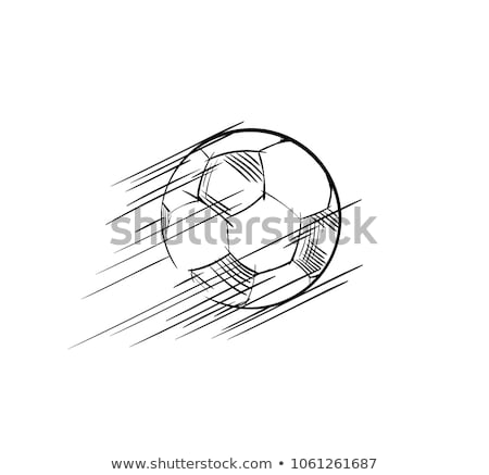 Flying football soccer pitch and balls Stock photo © elaine
