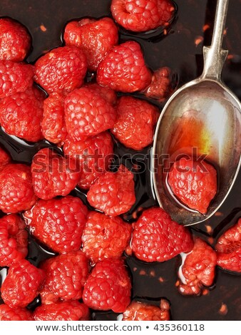 rustic french raspberry fruit compote preserve Stock photo © zkruger