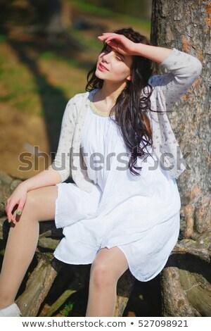 美しい 若い女の子 ドレス 町 ファッション スタイル ストックフォト © Aikon