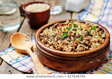 arroz · jantar · refeição · tigela · vegetariano - foto stock © M-studio