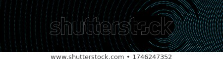Black round tech circles outline drawing design Stock photo © saicle