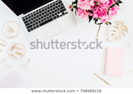the woman with golden pen in fashion concept stock photo © elnur