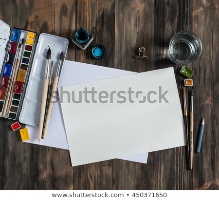 schilderij · illustratie · papier · kunst · kleur · afdrukken - stockfoto © bluering