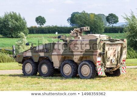 Tanque campo de batalla ilustración arma máquina alambre Foto stock © bluering