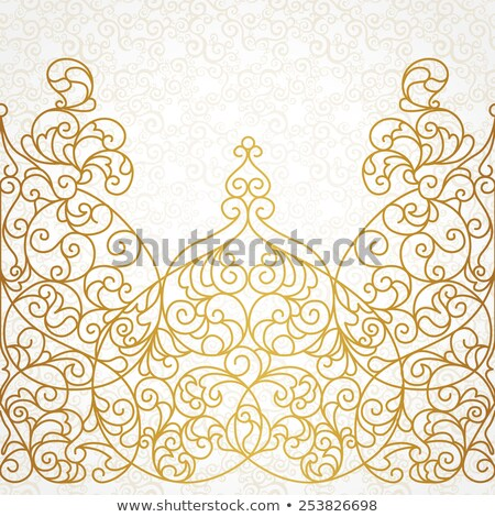 vector · marco · oriental · estilo - foto stock © cosveta