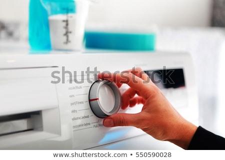 женщину стороны стиральная машина энергии власти Сток-фото © ssuaphoto