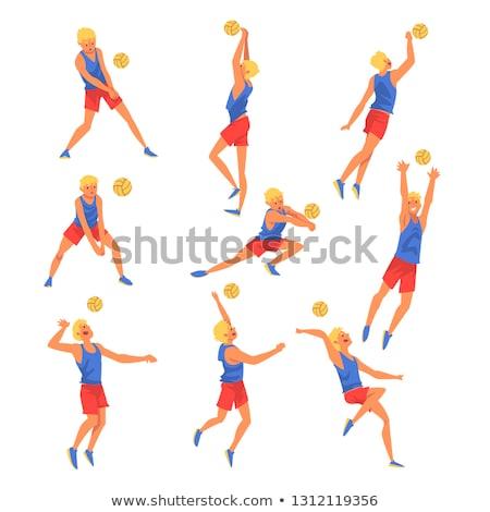 少年 演奏 バレーボール ビーチ ボール 小さな ストックフォト © orla