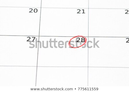 Save the Date written on a calendar - March 28 Stock photo © Zerbor