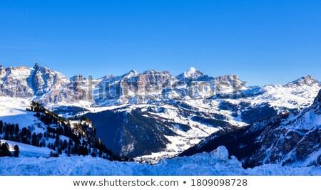 corvara village and badia valley stock photo © antonio-s