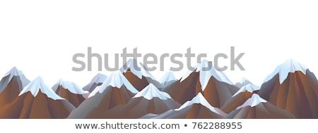 Ski slopes on snow capped mountain Stock photo © stevanovicigor