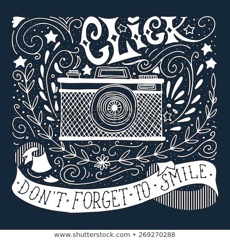 Lavagna foto fotocamera istruzione disegno fotografo Foto d'archivio © romvo