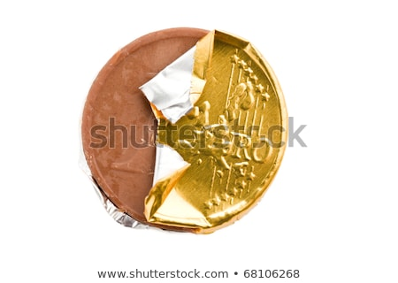 Csokoládé érmék arany fedett étel csoport Stock fotó © Digifoodstock