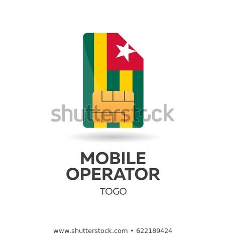 mobiles · opérateur · carte · pavillon · résumé · design - photo stock © Leo_Edition