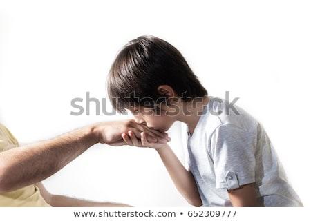 Jóvenes musulmanes hombre besar padres mano Foto stock © sgursozlu