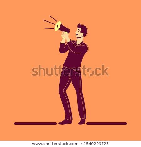 Male coach using megaphone Stock photo © wavebreak_media